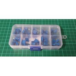 50Pcs/set 10 Values 3296W Multiturn Variable Resistor Trimmer Potentiometer Kit