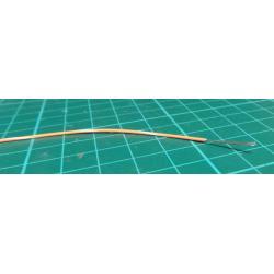 26AWG, 0.13mm2, 7/0.15mm Orange/White PVC 80deg 150V (UL1429)
