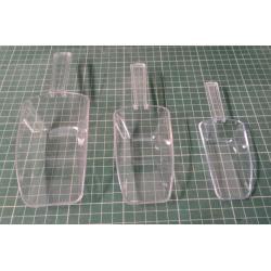 3 Plastic Shovels (Components into bags e.t.c.)