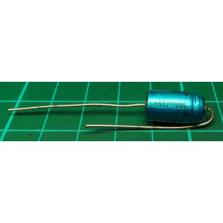 Capacitor, 100uF, 25V, Axial, Electrolitic