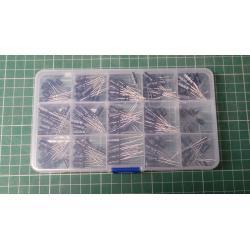 15 value 200pcs Electrolytic Capacitor Organization Storage Assortment Kit w/Box