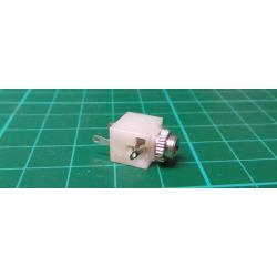 Socket, Jack 3.5mm, socket, mono, into the panel, soldering