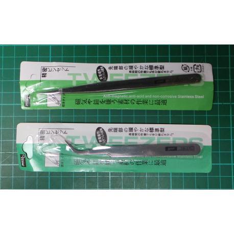 6Pcs Steel Stainless Anti-static Tweezer Set Electronic Craft Tool Kit TS10-15