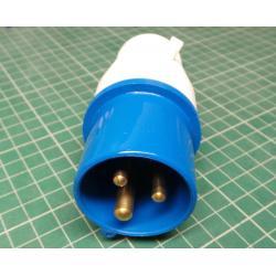 IEC 60309 Single Phase Plug, 230V, 16A * No Photo