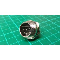 MIC connector with 8p panel thread