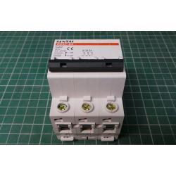 Circuit breaker DZ47 400V / 20A / C 3-phase DIN rail