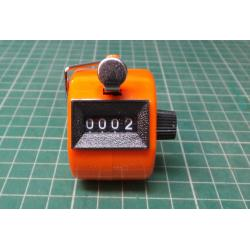 4 Digit Number Manual Handheld Tally Mechanical Counter Golf Hand Counter Hot
