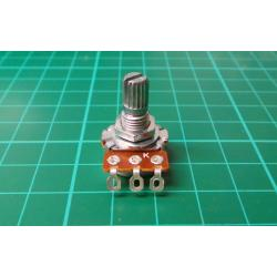 Potentiometer: axial, single turn, 100kΩ, 125mW, ± 20%, on cable