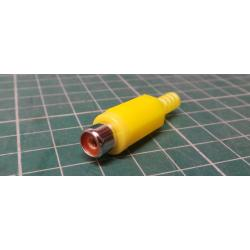 RCA / Phono Socket, In Line, Yellow