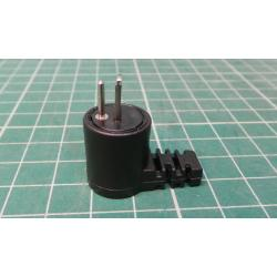 Right Angled DIN plug, 2-pin, speaker