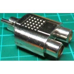 RCA Plug to 2 x RCA Socket, Adaptor
