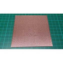 Stripboard, 100mm x 100mm, 2.54mm pitch