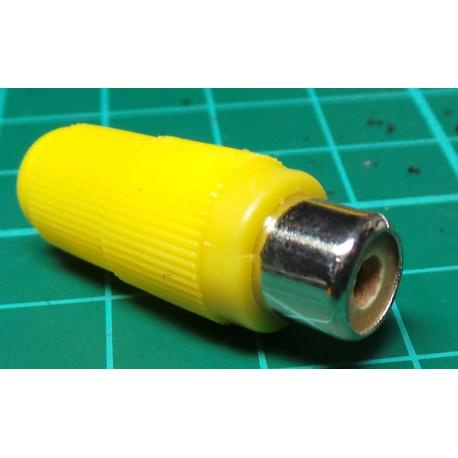RCA / Phono Socket, In Line, Yellow