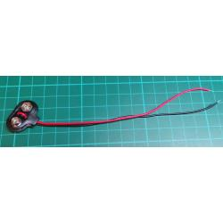 Contacts for 9V battery - clips, T type, 12cm leads
