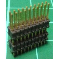 HDR 20 Pin DIL Header, Male, 1.27 mm Pitch