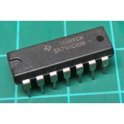 7400, SN74HC00N, quad 2-input NAND gate