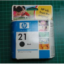 HP, 21, Black, 5ml