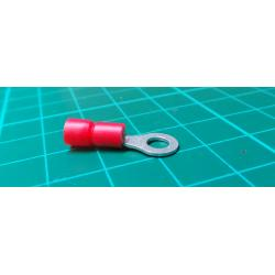 Insulated eyet, red 4.3mm