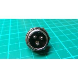 MIC, Locking chassis, plug 3-way