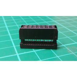 Plug, IDC, socket, PIN: 10, IDC, flat cable, 1.27 mm