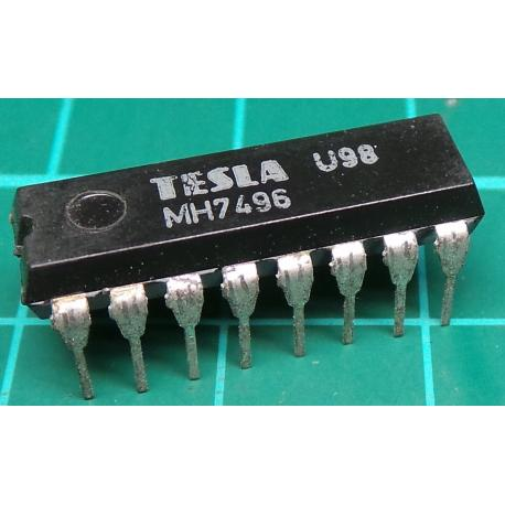 MH7496, TESLA, 5-bit parallel-In/parallel-out shift register, asynchronous preset