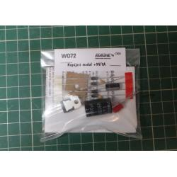 Regulated PSU Kit, 9V, 1A, 52x22mm